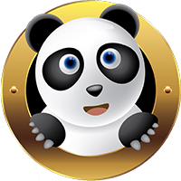 Image of Canvas panda in MGM format